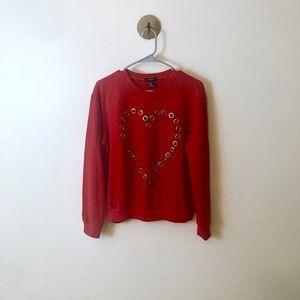 Forever 21 Heart Sweatshirt